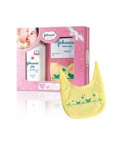 Johnson's baby Care Collection With Organic Cotton Bib 3 Pieces