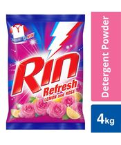 Rin Refresh Lemon & Rose Detergent Powder 4Kg